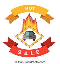 car sale design, vector illustration eps10 graphic