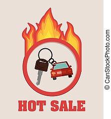 car sale design - car sale design, vector illustration eps10...