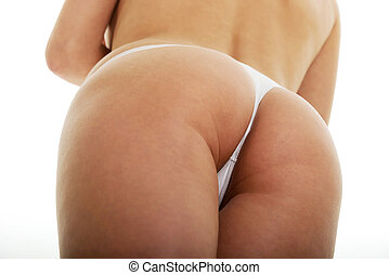 Sexy young woman back. - Sexy young woman buttocks in...