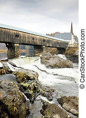 Bath Bridge 1832, New Hampshire, USA