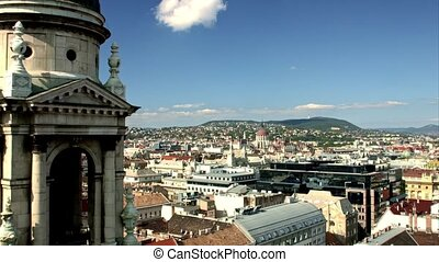 Panoramic view of Budapest in beautiful weather