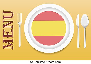 Spanish cuisine menu vector