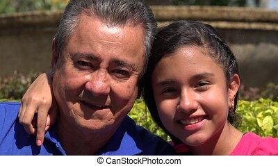 Happy Father and Daughter at Park