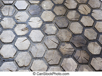 hexagon wood texture
