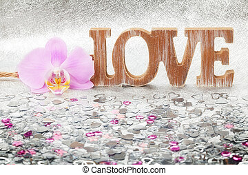 Valentine's Day, love, heart, orchid
