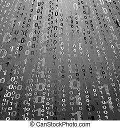 digital background with numbers 1 and 0