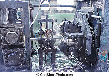Rolling forming rolls metal works on manufacture of pipes