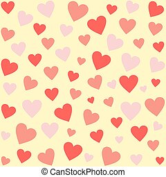 Differently sized hearts in red - Differently sized hearts...