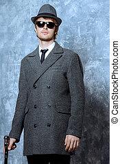 gentleman - Portrait of a handsome young man in an elegant...