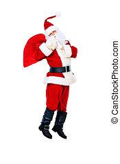 jumping Santa Claus - Santa Claus is jumping with gifts...