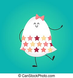 Happy easter with happy egg - Happy easter with happy...