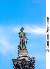 Nelson's, coluna, em, Trafalgar, quadrado, Londres,