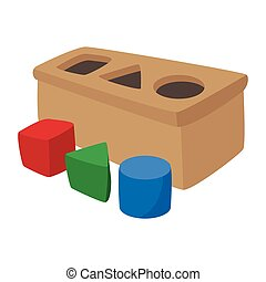 Sorter toy cartoon icon on a white background