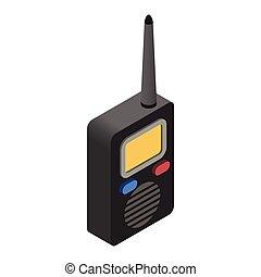 Radio isometric 3d icon