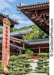 Chi lin Nunnery, Tang dynasty style temple, Hong Kong, China