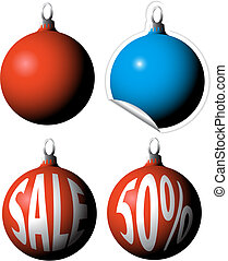 Christmas bulbs as a sale tags labels