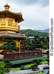 oriental golden pavilion of Chi Lin Nunnery