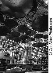Man Mo Temple, - The interior of the Man Mo Temple, Hong...