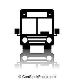 Bus icon. Vector illustration