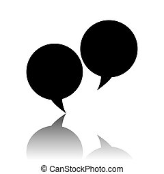 Speech bubble icon.
