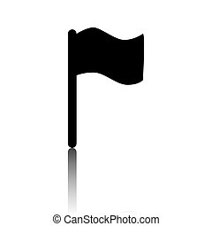 Flag icon in vector