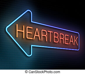Heartbreak sign concept - Illustration depicting an...