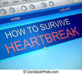 Surviving heartbreak concept. - Illustration depicting a...