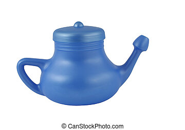 Blue neti pot