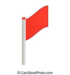 Red flag 3d isometric icon