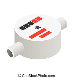 Water meter isometric 3d icon on a white background
