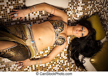 Belly dancer preforming on stage - belly dancers preforming...
