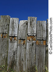 weathered wooden beams