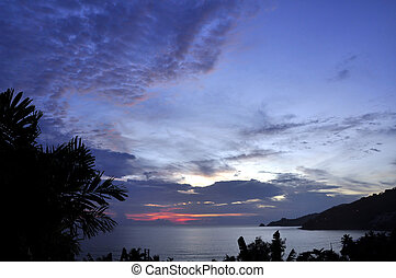 Patong beach afterglow - Still lots of colour here in this...