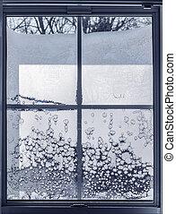 glacial, fenêtre,