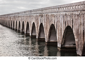 Florida Keys East Coast Railway - Arches of Old East Coast...
