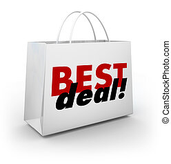 Best Deal Shoppoing Bag Discount Sale Buying Goods Products Low Prices