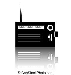 Radio silhuette icon - Radio silhouette icon. Vector...