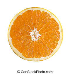 Perfect orange sliced with path