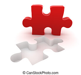 Final red puzzle piece