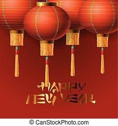 Chinese New Year elements, lanterns