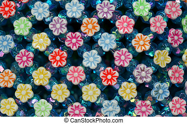 Colorful plastic flowers - Decorative plastic flowers