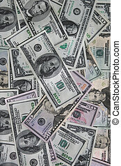 Dollar bills money background - Background image of dollar...