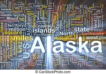 Alaska state background concept glowing - Background concept...