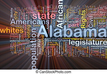 Alabama state background concept glowing - Background...
