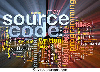Source code background concept glowing - Background concept...