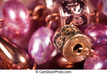 Jewelry - Hand made colorful earrings macro with shallow DOF
