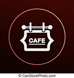 coffee shop sign icon