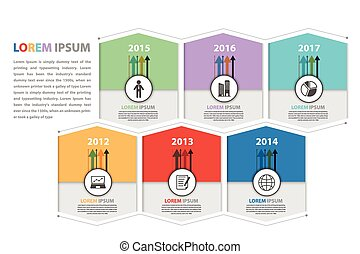 Milestone and business presentation infographic in vector...