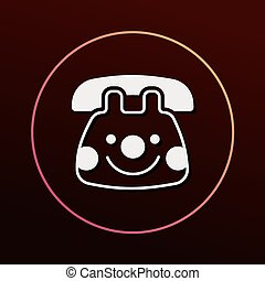 baby toy phone icon