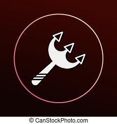 halloween scythe icon